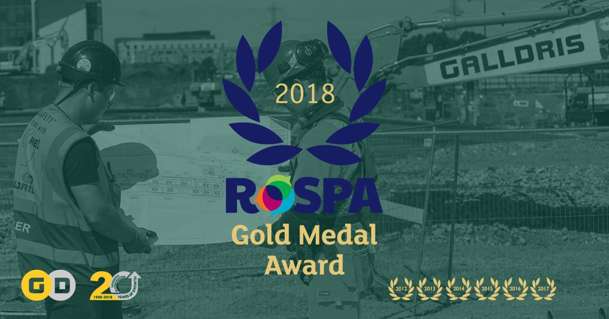 Galldris Rospa Gold Award 2018