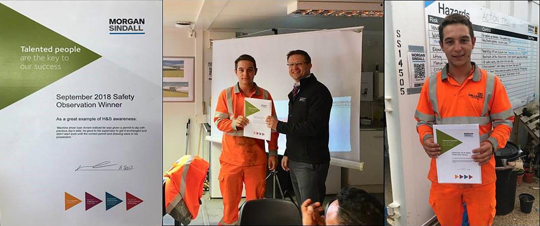 Morgan Sindall September Safety Observation Award